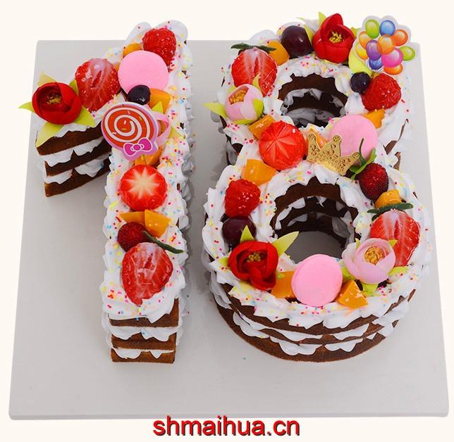 数字岁数蛋糕