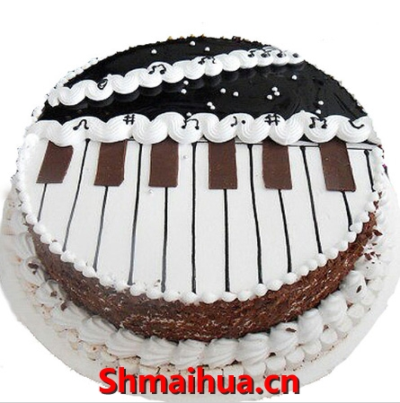 钢琴创意蛋糕